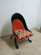 Funky Hollywood Regency Style Modern Scoop Back Fireside Lounge Club Chair AA