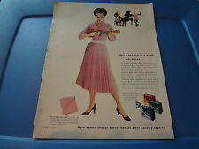 "1954 Kotex Vintage Magazine Ad ""Not a shadow of a doubt with Kotex"""