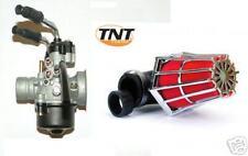 CARBURATEUR Carbu  + Filtre Cornet 90° Chrome/rouge SCOOTER 50cc 17,5