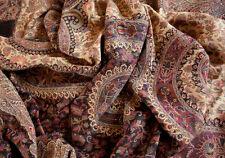 Large Hand-Cut Kani Jamawar Wool Shawl Black Paisley Jamavar Wrap Stole Pashmina