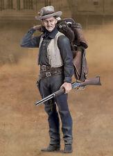 Andrea Miniatures del Tall MAN Cowboy con sella 54mm KIT non verniciata