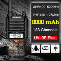 BaoFeng UV-9R PLUS Powerful 5W 2 Band Walkie Talkie Long Range Two Way Radio