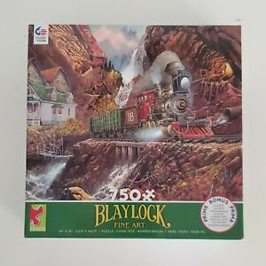 Train Puzzle 750 Pcs Ceaco Blaylock Fine Art USA Made #2921-9 New Sealed