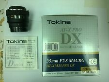 Tokina AT-X M35 PRO DX f/2.8 Macro Lens For Nikon APS-C DSLR's