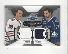 2015-16 SP Game Used Nick Foligno/Jonathan Toews JERSEY Blackhawks Blue Jackets