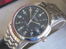 St. Moritz Momentum Stainless Steel Automatic Military Style Wrist Watch LNIB