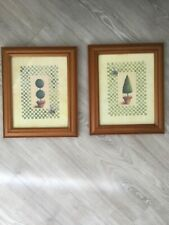 2 X Tree Framed Wall Pictures With Wooden Frame