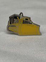 Vintage Bulldozer Pinback Pin