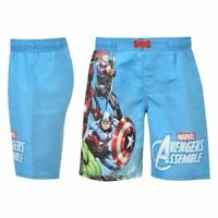 Boys Marvel Avengers Assemble Board Shorts Trunks Age 2-3 YRS A152-4