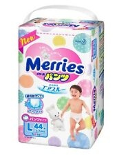 Kao Japanese Diapers Merries L size 44 Sheets Pants type (9~14kg) Free shipping