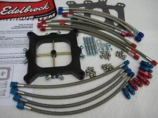 READ! *NEW EDELBROCK VICTOR JR HOLLEY 4150 NITROUS PLATE KIT 175-400HP W/EXTRA'S