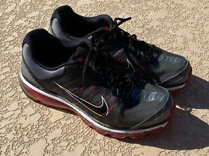 NIKE AIR MAX GRAY 354744-003 2009 Dark Grey Black Red Men's Size 13 Shoes
