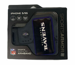 NEW NFL Baltimore Ravens Sports Armor Work Out Arm Band For iPhone 5/5S Black