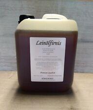 LEINÖLFIRNIS Holzschutz 5 Liter Holzöl  naturrein Premium Qualität