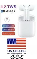 *HOT* TWS Bluetooth 5.0 earphones earbuds w/ magnetic charging case INPODS White