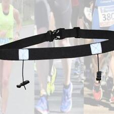 Fitness Triathlon Race Number Belt with Gel Holders Ironman Tri Running Motor LD