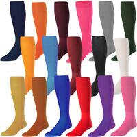 Twin City Adult Solid Baseball/Softball Tube Sock Youth and Adult No Heel Socks