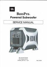 JBL  service manual  für Bass Pro powered subwoofer