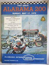 1970 VINTAGE AMA ALABAMA MOTORCYCLE RACING PROGRAM BOOK TRIUMPH BSA HARLEY #'s