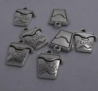 Free Ship 80 pieces tibetan silver Floss charms 16x12mm S340