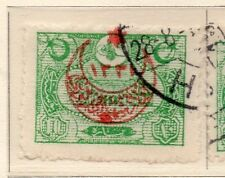 Turkey 1916 Early Issue Fine Used Star and Moon Optd 10p. 009628