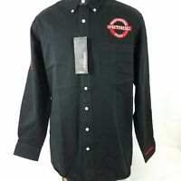 Petrol Professional Posse Mens Shirt Large Black Button Down Long Sleeve Cotton