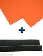 2 Shts Sheath/Holster Making Foam+2 Shts Kydex T-080-Safety Orange-DIY Material