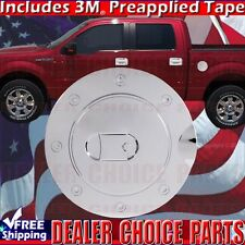 2009-2014 FORD F150 F-150 Triple Chrome ABS Gas Door Cover Fuel Trim Overlay Cap