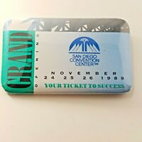 VTG San Diego Convention Center Grand Opening Nov 1989 Souvenir Pin Back Badge