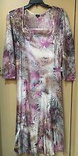 NWT Komarov Women's Plus Size Long Sleeve Crinkle Lace Dress 3X