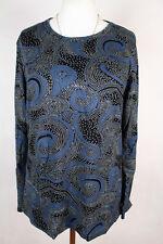 New Women Blouse Size 16/18 Top Long Manche TUNIC Ladies M 3467