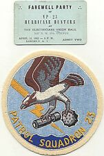 Beautiful Circa 1950-1952 VP-23 (Patrol Squadron 23) Patch and Party Ticket