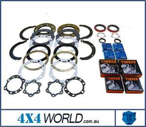 For Toyota Landcruiser HDJ78 HDJ79 Series Swivel Hub + Wheel Bearing Kit TIMKIN