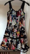 LIVING DEAD SOULS COLOURFUL BONED BASQUE TOPPED GOTHIC DRESS SIZE XL NEVER WORN