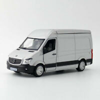 1:36 Sprinter Van Cargo Model Car Diecast Gift Toy Vehicle Gray Kids Pull Back