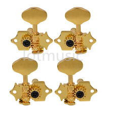 Gold Machine Heads Tuning Pegs 2R2L for Ukulele 4 String guitar Bass Tip head