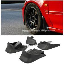 For 96-00 Honda Civic EK JDM Style Front + Rear Splash Guard Black Mud Flap 4PCS