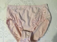 Vintage Vanity Fair Panties Hi-Cut Silky Satin Brief Pink L #48-160