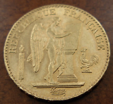 France 1876 A Gold 20 Francs UNC Lucky Angel