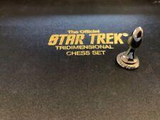 Authentic Star Trek Chess Piece Silver PAWN Franklin Mint TriDimensional 1994