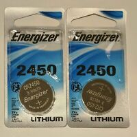 2 Energizer CR2450 ECR 2450 3v LITHIUM Coin Cell Battery Exp. 2026 USA SELLER