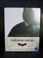 Batman Begins Blu-Ray Steelbook [Korea] Region Free Action Nolan RARE