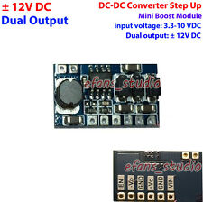 ±12V Dual Output DC-DC Boost Converter Step Up Voltage 3.3V 3.7V 5V 9V to 12V