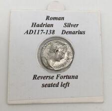 SILVER ROMAN SILVER DENARIUS COIN - HADIAN AD117-138