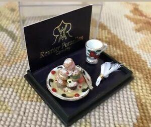Dollhouse Miniature Reutter Porzellan Ice Cream Dessert Plate 271
