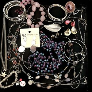 Wearable Mixed Jewelry Lot Sell Vintage Now Pin Earring Necklace Ring Bracelet