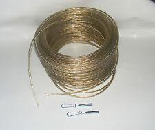 10m Zollseil, Planenseil mit Stahleinlage, D=8mm & 2 Seilendverschlüsse & Haken