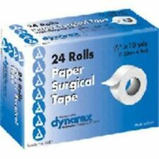 "Dynarex Paper Surgical Tape 0.5""X10YD 24 Rolls"
