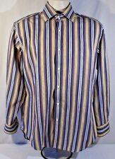 Thomas Dean Long Sleeve Size Medium 100% Cotton Flip Cuff
