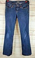 Seven 7 Women's Jeans Size 28 Flare Dark Wash Stretch 32x32
